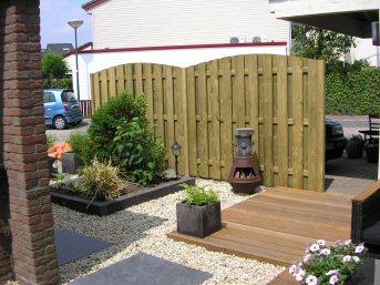 Foto 39 s tuinontwerp - Aangelegde tuin met kiezelstenen ...